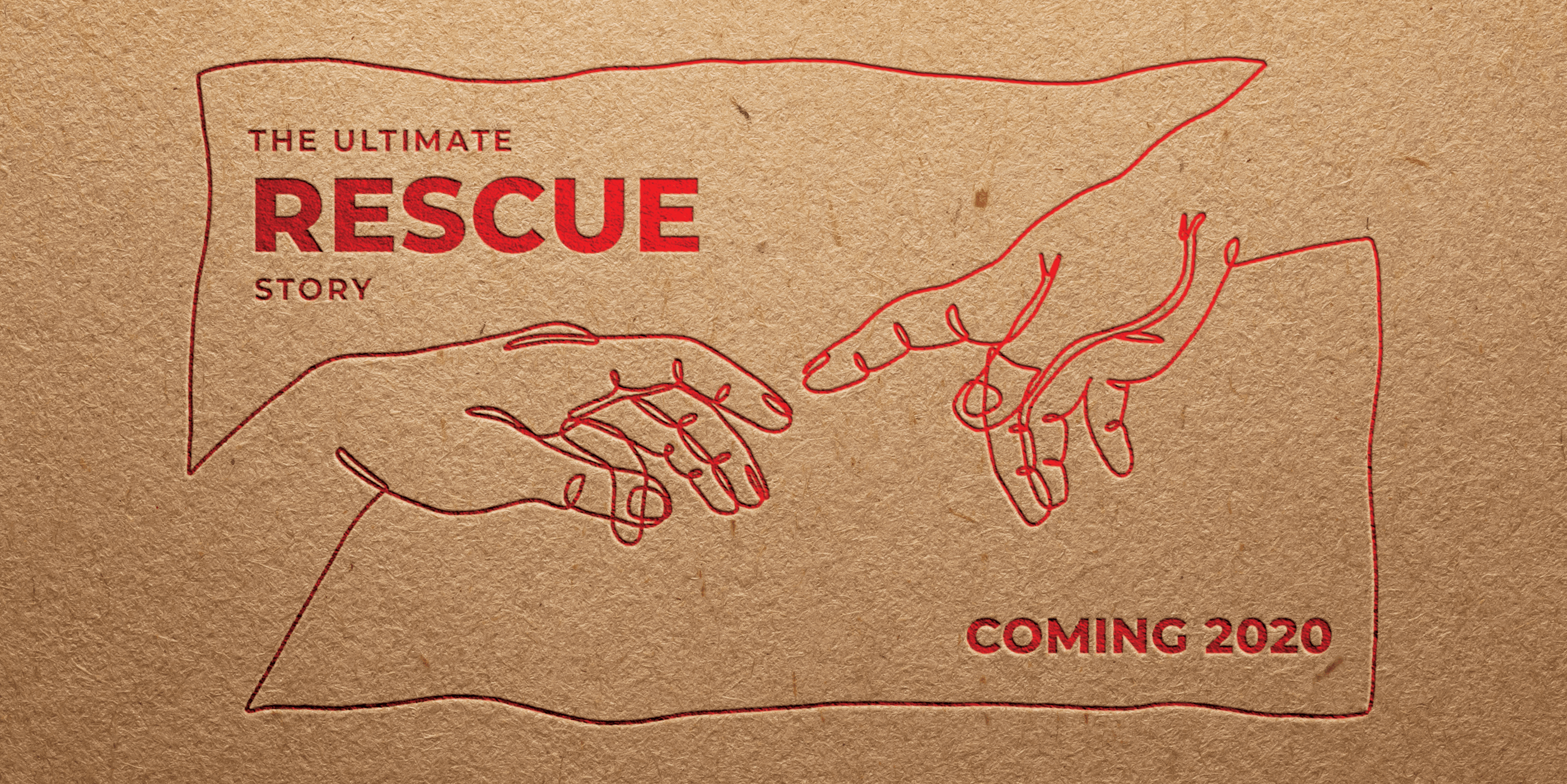 "Service opener poster for the ""Ultimate Rescue Story"" series at TCAL church"